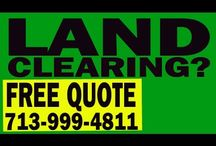 Land Clearing & Site Work Houston / Land Clearing of Texas offers Land Clearing, Excavation, Hydro Ax Mulching, Bull Dozing, Site Preparation, Demolition and Removal, Detention & Retention Ponds and Hydro-seeding. We offer services to many vacant lots, large undeveloped commercial and agricultural acreage.We deliver services to residential home builders, commercial land developers and agricultural property owners.