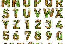 Letters en cijfers maken /  bij deze bladzijde heel veel patronen voorbeelden