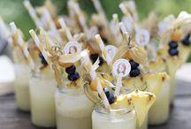Wedding cocktail garnishes