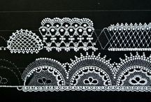 Wzorki, malowane firanki