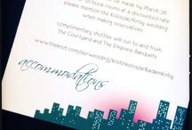 City Theme Wedding Invitations