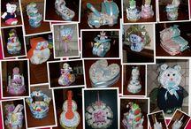 TORTE DI PANNOLINI ... MA NON SOLO!!! LE MIE CREAZIONI... / idee regalo originale e molto utile  per nascita , battesimo o 1° compleanno! CONTATTATEMI per info e preventivi!!!