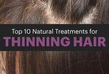 Natural Hair Treatments / Natural hair remedies and treatments to maintain a healthy hair without too much hair loss or frizziness.