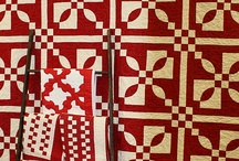 Red and white... quilts