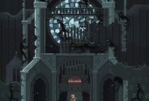 Pixel / Isometric Art / Artwork created using pixels, often seen in isometric format in some game art.  / by ifourdezign