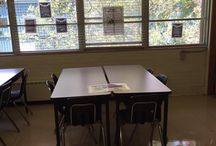 My 2016-17 Classroom / This is the set up of my classroom for this school year.  I have a flipped classroom and use Schoology as my CMS.  This year I set up distinct zones--a small group teacher area that can accommodate 7 students at a time, a small peer group area for 4 students, a quiz area for 2 students, and 2 single student distraction free zones.  I also have 2 comfy clothe chairs that I am bringing from home for some special privileged seating.  I hope it works out but this is a definite experiment.
