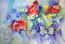 my watercolors / My watercolors about flowers