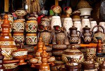 Índios do Brasil / Imagens, grafismo corporal, arte em cerâmica, cestaria e plumagem.