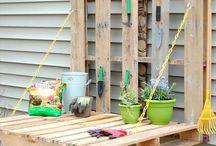 Trädgårdstips / Till min trädgård. Egentillverkade lösningar på vardagsproblem, men även det estetiska
