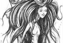 Волосы рисунки