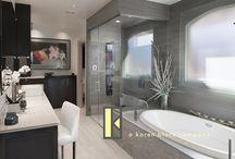 Nichols Hills Modern Contemporary bathroom remodel / Bathroom remodel