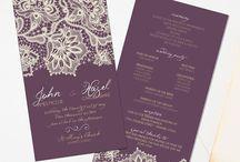 { How Does This Go? } / Elegant, rustic, vintage, diy wedding programs