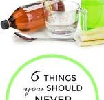 Where to NOT to use vinegar.