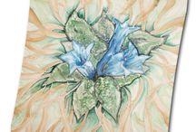 Príroda / Hodvábne šatky motivované prírodou od MarieJean. www.mariejean.eu
