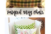 Paint fabric chair