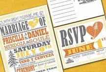 Redwood vintage poster wedding / Redwood vineyard vintage poster typography wedding invitation in gray and yellow