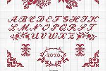Alphabet kreuzstich