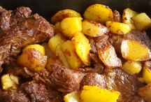 carnes cozidas e assadas