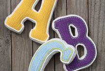 Crochet letras y números