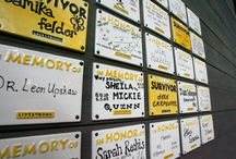 We Give Thanks  / This is a virtual tribute wall, much like the one we have in LIVESTRONG HQ and many of our events and expo booths. Please honor your loved ones, friends, or your own personal fight by customizing a tile and emailing it to: donations@livestrong.org - we'll post it here for you - thanks! / by The LIVESTRONG Foundation (Official)