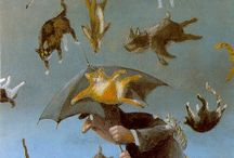 sataa kissoja ja koiria