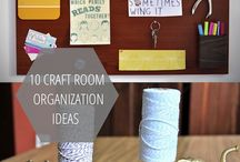 Craft Room Organizing / Tips to organize crafts/craft room