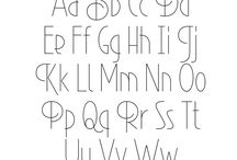 fonts/hand lettering