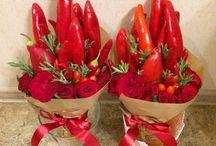 květiny z jídla