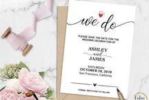 Save the Dates / Save the Date Templates Editable - Printable