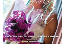 """Beautiful Works of Art: The Bouquets {Blooms by Martha Andrews} / From the """"Beautiful Works of Art"""" Cover Model Contest feature in the Winter/Spring 2014 issue of Real Weddings Magazine, Photography by www.SharpePhotographers.com © Real Weddings Magazine, www.realweddingsmag.com. Bouquets by www.bloomsbymarthaandrews.com. To see more, including a full list of all of the professionals on this shoot, visit: http://www.realweddingsmag.com/beautiful-works-of-art-the-bouquets-blooms-by-martha-andrews/"""