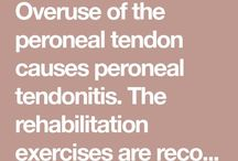 Peroneal Tendon exercises