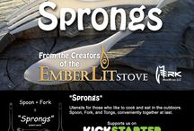 kickstarter Project- Sprongs / Sprongs: the Perfect Camp Utensil for Cooking and Eating. / by Emberlit Stove_Merkwares LLC