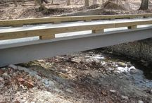 Oakwood, OH / Composite Advantage FiberSPAN trail bridges, installed in Oakwood, Ohio.