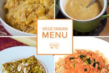Vegetarian Freezer Menu October 2015 / Whether you are staring your day with nutty pumpkin oatmeal bars or sitting down to dine on a myriad of roasted vegetables drizzled with sumptuous brown butter, sweet winter squash and earthy root vegetables take on a starring role in this Vegetarian October Menu. / by Once A Month Meals
