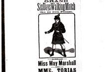 1879 handbill for women's six day walk