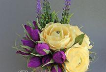 Цветы из креп бумаг