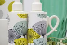 Dandelion Clocks / Dandelion Clocks is a funky 50s retro pattern designed for Sanderson by Fiona Howard, featuring stylised dandelion heads with seeds radiating from a central point in refreshing aquatic colours. http://www.heathcote-ivory.com/sanderson/dandelion-clocks.html