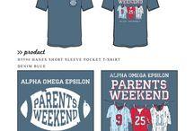 Alpha Omega Epsilon / Alpha Omega Epsilon custom shirt designs #alphaomegaepsilon #aoe  For more information on screen printing or to get a proof for your next shirt order, visit www.jcgapparel.com