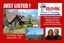 Homes For Sale in Blairsville, GA / Properties For Sale in the Great Town of Blairsville, GA. See Something You Like?  Call us! REMAX Town & Country Bill and Cyndi Daves 828-361-9419