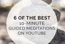 Guided Meditations & Meditation Tips / Learn tons of great tips on how to meditate and improve your well-being. | mental health, #meditation, meditation for beginners, guided, space, room