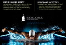 Summer Safety / You can never be too careful during the summer months. Hot sun and summertime activities can often be dangerous. We assembled some information that can help you beat the heat and stay safe in the process. Remember to always consult your physician if you have any health-related questions.