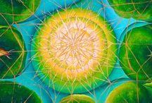 Mandalas / intuitiv gemalte Mandalas