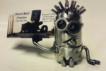 Minion Creations / Custom made Minions by Kevin Dickey.  For more information visit Custom Metal Creations by Kevin Dickey on Facebook or email  kevindickeycreations@gmail.com