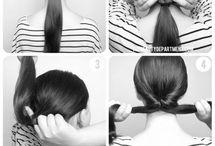 Hair ponytails / by Denise Barnes