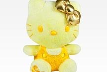Hello kitty jaune et or