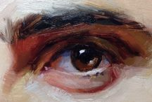 Oil paintings - eyes