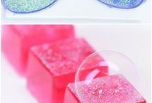 Bath bombs, candles and soaps