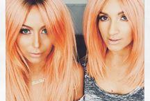 Peach haircolour