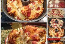 Pizza. Pizza bread etc