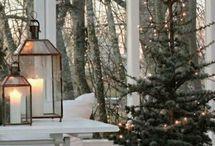Vánoční interiér i exteriér